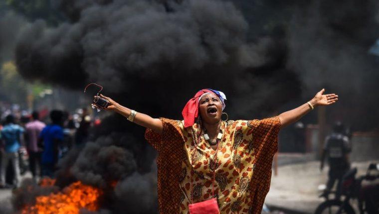 Al menos siete personas murieron en las protestas que piden la dimisión del presidente de Haití, Jovenel Moïse.