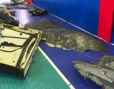 La televisión iraní divulgó imágenes de lo que identificó como los restos del dron de Estados Unidos. IRIBNEWS