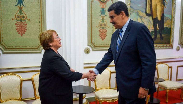 La expresidenta de Chile, Michelle Bachelet, realizó una visita a Venezuela en calidad de alta comisionada de la ONU.