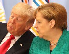 Angela Merkel y Donald Trump en el G20 en 2017. GETTY IMAGES