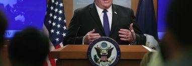 Mike Pompeo, secretario de Estado de Estados Unidos. (Foto Prensa Libre: AFP)