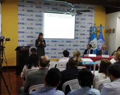 La presentación del informe se realizó en la sede de la Comisión Internacional contra la Impunidad en Guatemala. (Foto Prensa Libre: Carlos Álvarez)