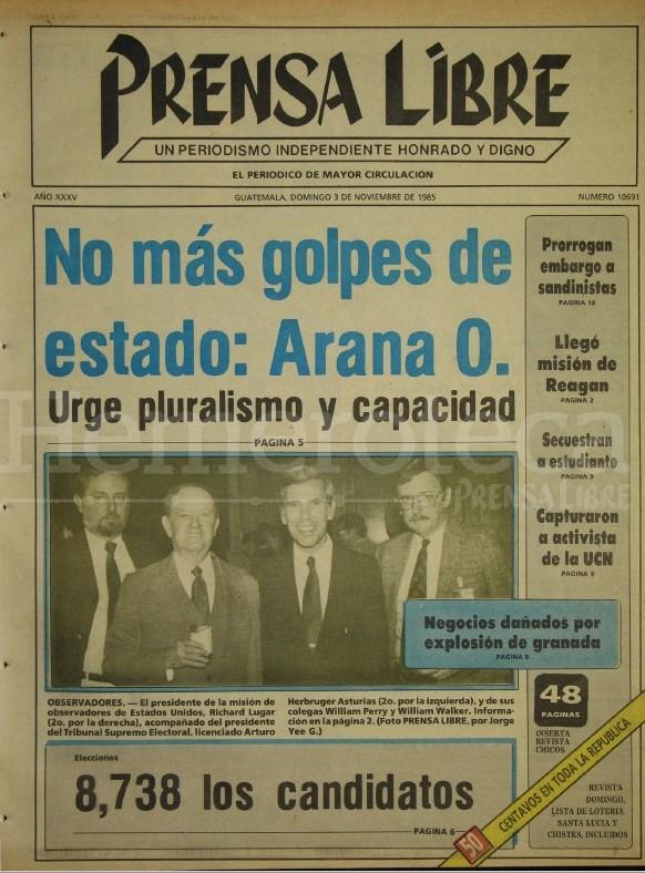 Portadas que marcaron los procesos electorales en Guatemala durante la era democrática