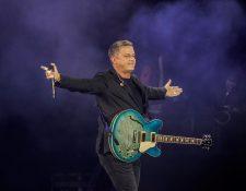 Alejandro Sanz, en uno de sus conciertos de su reciente gira.  EFE