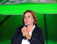 La candidata presidencial de Guatemala por el partido Unión Nacional de la Esperanza, Sandra Torres. (Foto Prensa Libre: EFE)