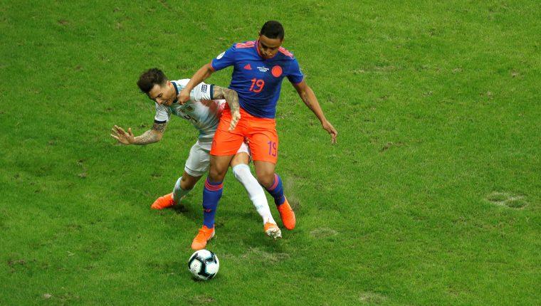 El colombiano Luis Muriel no podrá seguir participando en la Copa América. (Foto Prensa Libre: EFE)