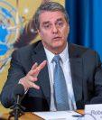GE108WTO. GINEBRA (SUIZA), 20/06/2019.- El director general de la Organización Mundial del Comercio, el brasileño Roberto Azevedo, participa en una rueda de prensa con motivo de la cumbre del G20 que tendrá lugar en Osaka (Japón) el 28 y 29 de junio, este jueves en la sede europea de las Naciones Unidas en Ginebra (Suiza).