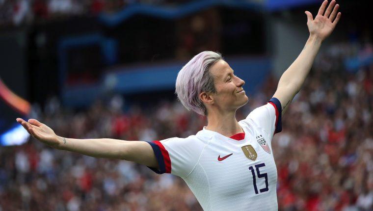 Megan Rapinoe anotó doblete frente a Francia. (Foto Prensa Libre: EFE)