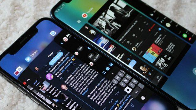 Android Q en modo oscuro. Foto Mashable.