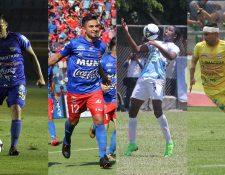Gerardo Arias, Wilson Godoy, William Zapata y Rafa González, jugarán con los chivos. (Foto Prensa Libre: Luis López)