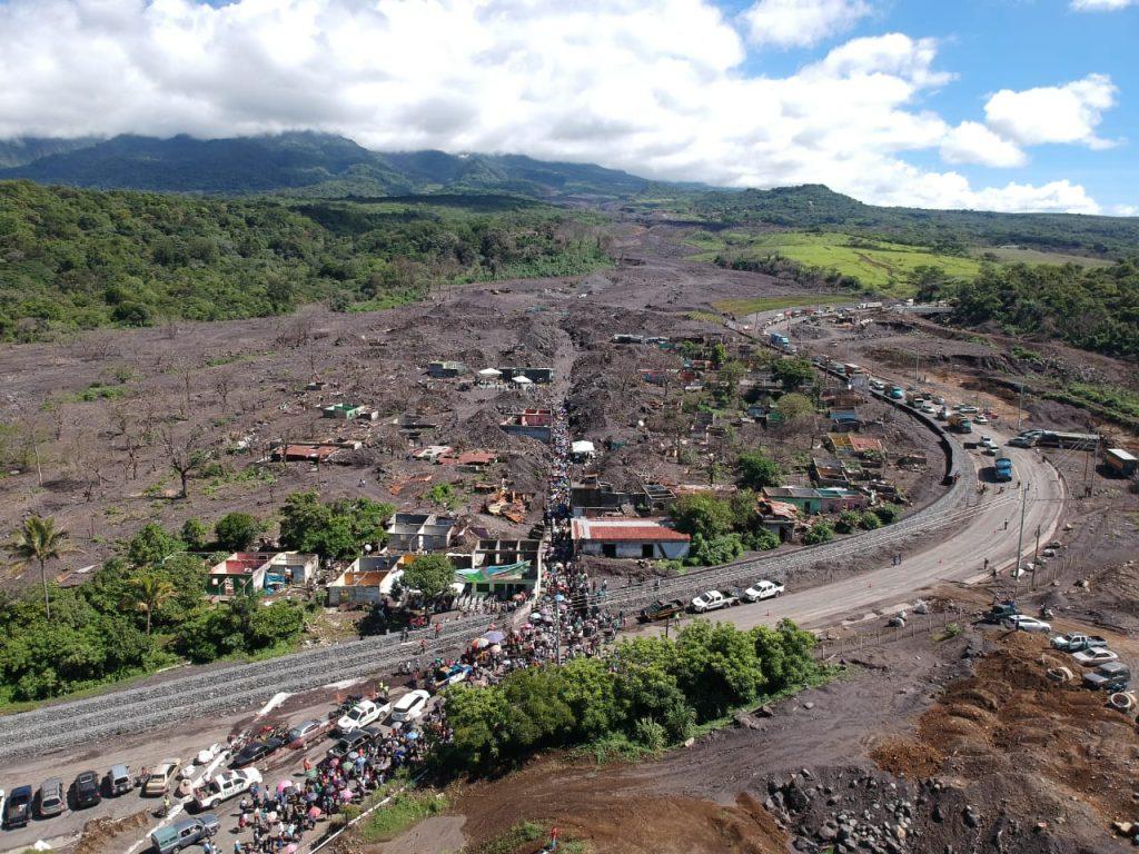 Una panorámica nos muestra lo que antes fue la aldea San Miguel Los Lotes.  Foto Prensa Libre: Carlos Hernández