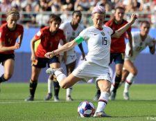 Megan Rapinoe durante el partido entre España y Estados Unidos de la Copa Mundial Femenina de la FIFA 2019.