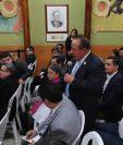 Reunión de los fiscales de los partidos políticos con los magistrados del Tribunal Supremo Electoral. (Foto Prensa Libre: Érick Ávila).