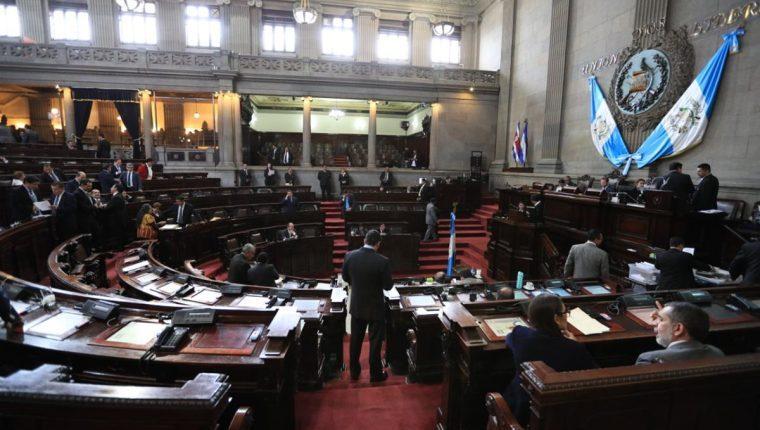 Hemiciclo del Congreso de la República durante una sesión plenaria. (Foto Prensa Libre: Hemeroteca).