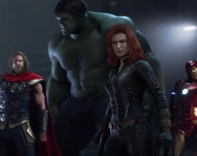 Thor, Hulk, la Viuda Negra y Iron Man son cuatro de los personajes principales del videojuego A-Day. (Foto Prensa Libre: Youtube MeriStation)
