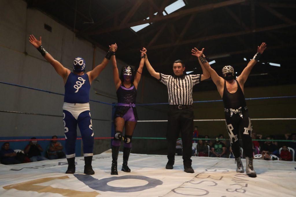 En este día Princesa celebra dos veces, la victoria en el ring y su cumpleaños. Foto Prensa Libre: Óscar Rivas