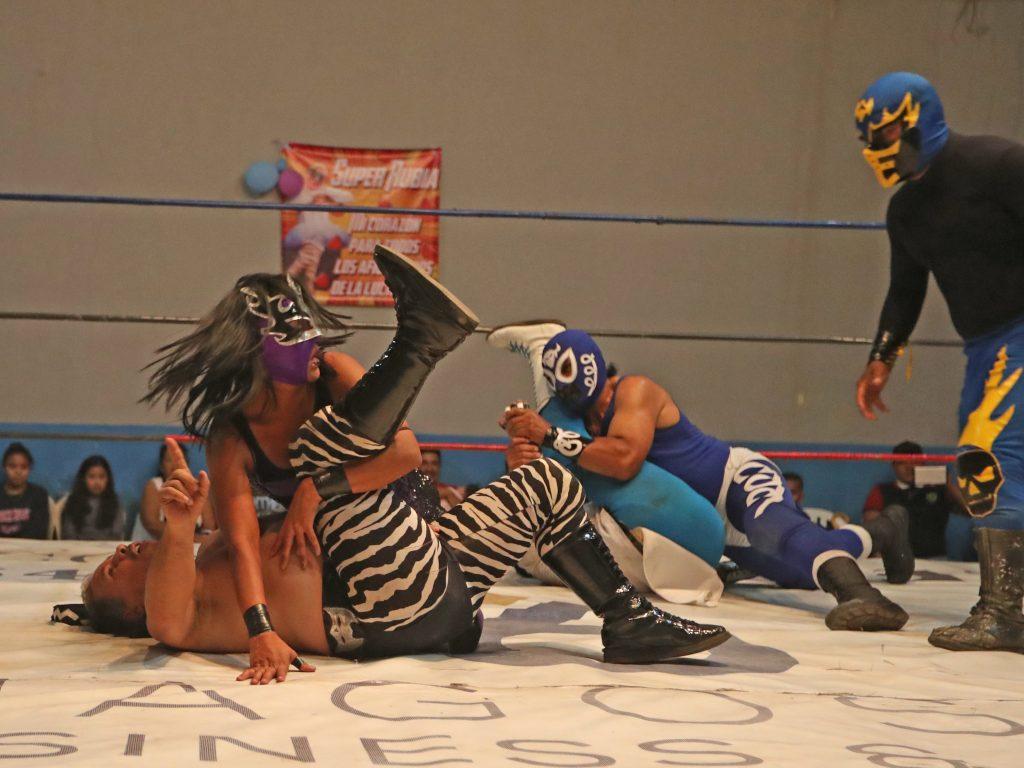 Con una experiencia de cinco años en el ring, esta es la segunda vez que pelea en la Arena Renacer Maya. Foto Prensa Libre: Óscar Rivas