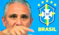 Brazil's coach Tite speaks during a press conference at Granja Comary sport complex in Teresopolis, Brazil, on June 3, 2019, ahead of the Copa America football tournament. (Photo by CARL DE SOUZA / AFP)