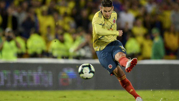 El delantero colombiano James Rodríguez buscará hacer una buena Copa América. (Foto Prensa Libre: AFP)