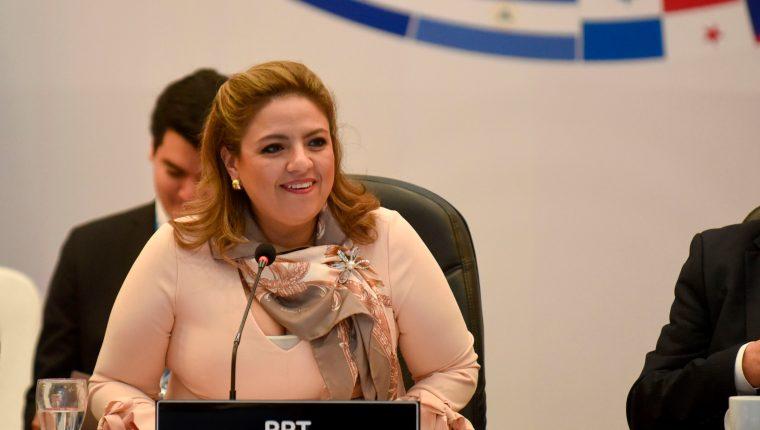 Canciller guatemalteca, Sandra Jovel, respondió ante las críticas. (Foto Prensa Libre: AFP)