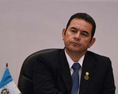 Guatemalan President Jimmy Morales attends the opening session of the LXXVIII Central American Integration System (SICA) Summit in Guatemala City on June 5, 2019. (Photo by Johan ORDONEZ / AFP)