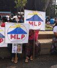 La campaña de Thelma Cabrera se centró en el área rural, y no fue hasta el último domingo  previo a las elecciones cuando llegaron a la Plaza de la Constitución. (Prensa Libre: Hemeroteca PL)