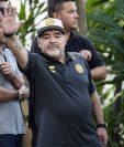 Diego Armando Maradona dejó a Dorados de Sinaloa para dedicarse a cuidar su salud. (Foto Prensa Libre: AFP)