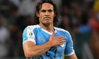 Uruguay's Edinson Cavani celebrates after scoring against Ecuador during their Copa America football tournament group match at the Mineirao Stadium in Belo Horizonte, Brazil, on June 16, 2019. (Photo by Luis ACOSTA / AFP)