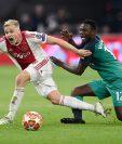 Van de Beek, jugador del Ajax. (Foto Prensa Libre: AFP)