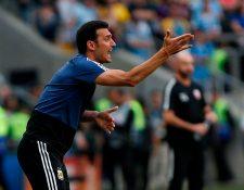 El entrenador argentino Lionel Scaloni comienza una nueva era con la Albiceleste. (Foto Prensa Libre: AFP)