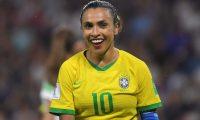 Marta, la brasileña es considerada como la mejor futbolista de todos los tiempos. (Foto Prensa Libre: AFP)