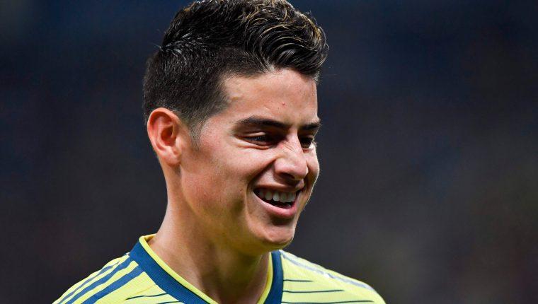 El colombiano James Rodríguez todavía no sabe qué será de su futuro en el futbol. (Foto Prensa Libre: AFP)