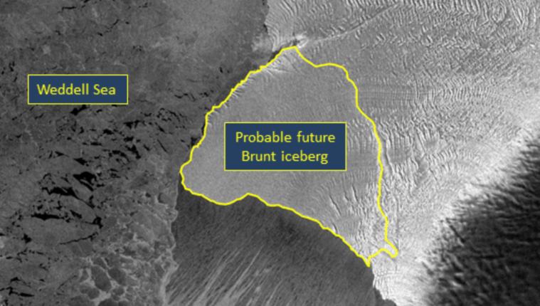 El tamaño del nuevo iceberg sería dos veces y medio más grande que la Ciudad de Guatemala que mide 692 kilómetros cuadrados. (Fofo Prensa Libre: Chris Readinger / NIC)