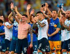 La albiceleste avanzó a las semifinales. (Foto Prensa Libre: AFP)