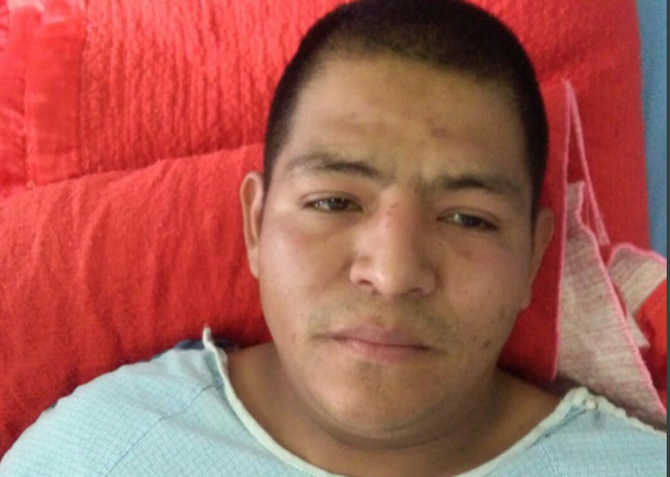 El socorrista Pedro Giovany Pérez García se recupera en Hospital Nacional de Chimaltenango. (Foto Prensa Libre: Cortesía).
