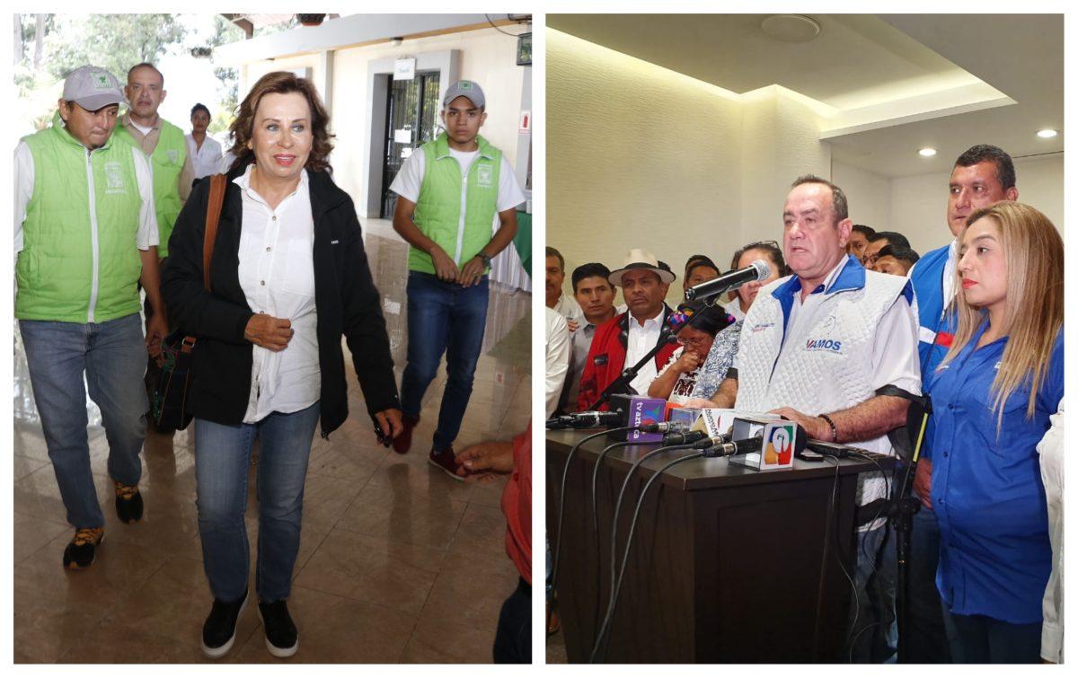 Torres y Giammattei retoman campaña electoral y buscan apoyo de otros partidos