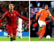 Cristiano Ronaldo y Van Dijk se enfrentarán en la final de la Liga de Naciones. (Foto Prensa Libre: EFE)
