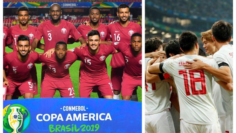 Las selecciones de Catar y Japón han sorprendido en la Copa América. (Foto Prensa Libre: AFP y EFE))