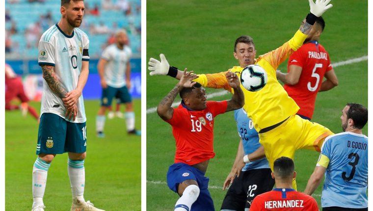 Messi y Muslera han sido protagonistas en la Copa América. (Foto Prensa Libre: AFP Y EFE)