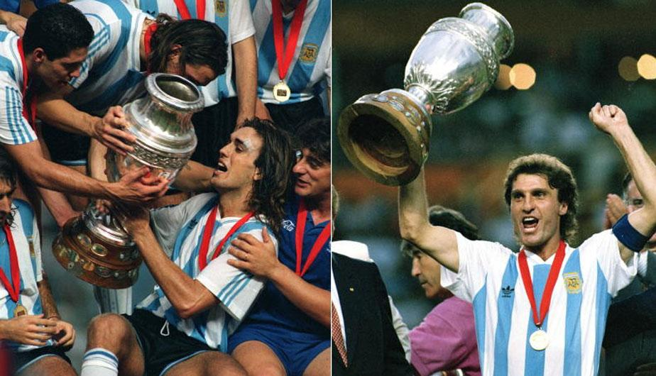 En 1993 fue la última vez que los argentinos levantaron la Copa América. (Foto Prensa Libre: Internet)