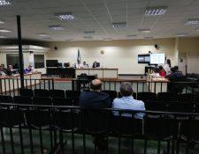 Omar Gustavo Nájera Sagastume está procesado por peculado por sustracción y como existe un acuerdo de colaboración eficaz declaró por videoconferencia. (Foto Prensa Libre: Kenneth Monzón)