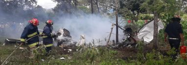 El accidente aéreo ocurrió en la zona 5 de Chimaltenango. (Foto Prensa Libre: Víctor Chamalé)