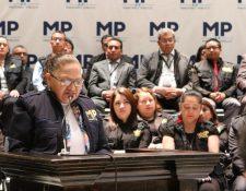 Fiscal General María Consuelo Porras nombró a Julio César Cordón como secretario de Política Criminal en julio de 2018. (Foto Prensa Libre: Ministerio Público).