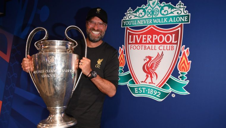Jürgen Klopp conquistó la Champions League. (Foto Prensa Libre: Liverpool FC)