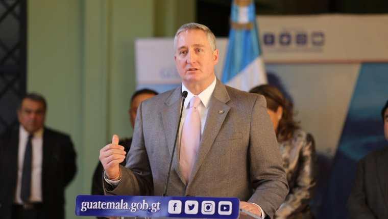 Enrique Degenhart, ministro de Gobernación. (Foto Prensa Libre: @Mingobguate)