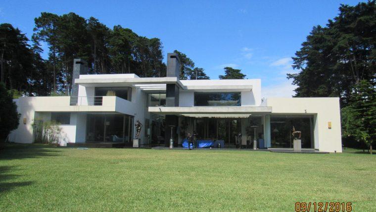Una de las propiedades que fueron inmovilizadas. (Foto Prensa Libre: Ministerio Público).