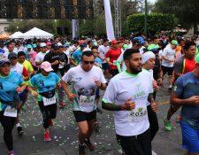 En la edición del 2018 la carrera tuvo participación de mil corredores que apoyaron a la Cruz Roja. (Foto Prensa Libre: Cortesía)