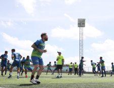 Deportivo Mixco inició la pretemporada el lunes último, en el estadio Santo Domingo. (Foto Prensa Libre: Francisco Sánchez).