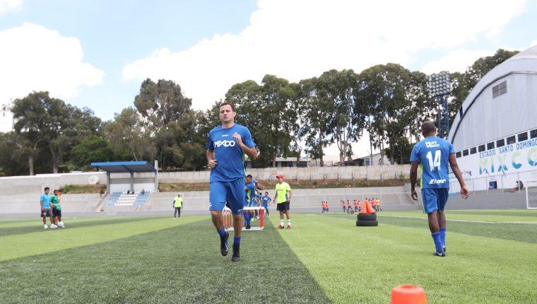 Marco Pablo Pappa, durante su primer entrenamiento con el Deportivo Mixco, en junio de 2019. (Foto Prensa Libre: Hemeroteca PL)