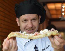 Duilio Girotto ganó el Campeonato Mundial de la Pizza en 1999. (Foto Prensa Libre: Vivian Nij)
